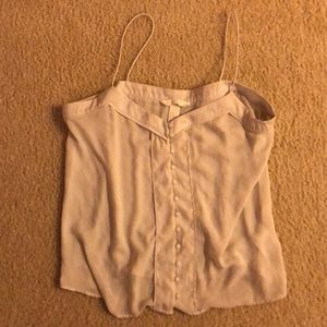 H&M White Button Tank Top